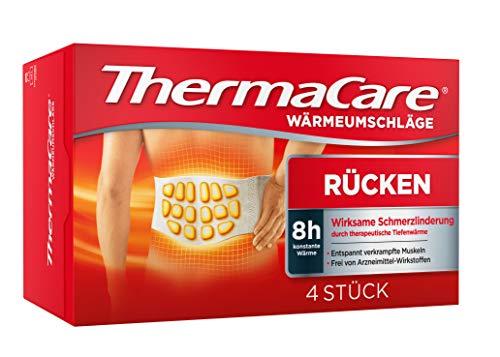 ThermaCare Wärmeumschläge – Wärmeauflagen unterer Rücken zur Linderung von Rückenschmerzen – Tiefenwärme zum Entspannen und Lockern der Muskeln – Größe S-XL – 4 Stück pro Packung