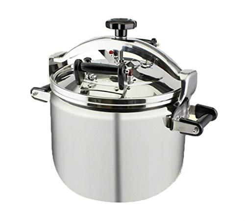 Autocuiseur commerciale 304 pression anti-déflagrant en acier inoxydable cuisinière grande capacité grande cuisinière à induction de gaz à usage général 22L, 30L, 40L (Color : Silver, Size : 30L)