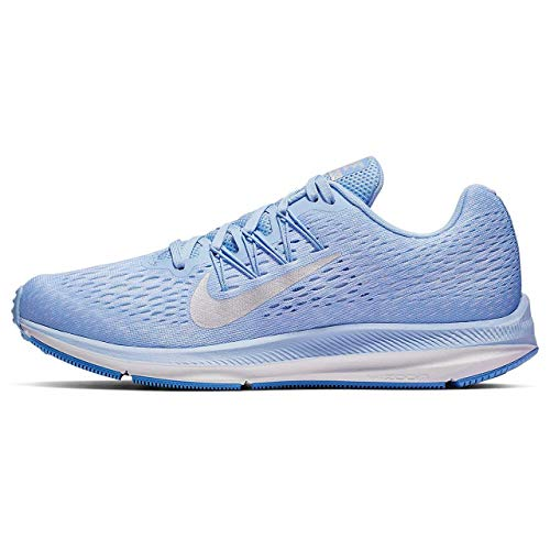 Nike Women's Zoom Winflo 5 Running Shoes (Aluminum/Metallic Silver, Numeric_6_Point_5)