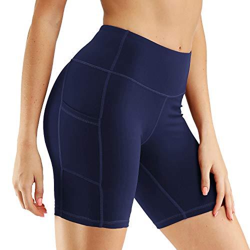 Sythyee - Yoga-Shorts für Damen in Navy, Größe L