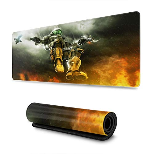 Anime Game Halo Mouse Pad Rectangle Non-Slip Rubber Electronic Sports Oversized Large Mousepad Gaming Dedicated 11.8X31.5 Inch