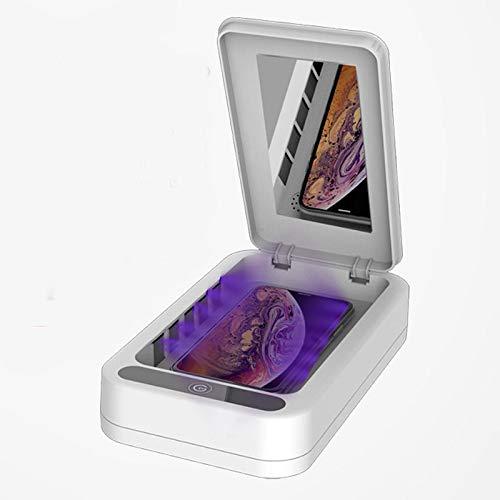 Caja esterilizadora y desinfectante para móvil con luz Ultravioleta portátil. Desinfección y Esterilización UV de Smartphone, Llaves, Relojes y Otros Objetos. Desinfecta y destruye Virus y bacterias.