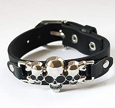 Nobrand Esqueleto Calavera Alas Ancla Pulsera Punk Gótica Roca Cuero Hebilla Pulseras Brazaletes para Mujeres Hombres Joyería De Abrigo