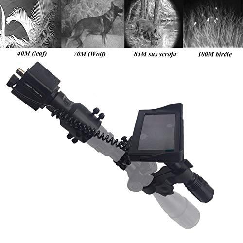 cianxincailia Digitales Nachtsichtgerät für Jagd Gewehr Nachtsichtgeräte IR Nachtsicht mit 4,3 Zoll HD Tragbarem Bildschirm Anzeige, Gewehrjagd Kamera Zielfernrohre mit LED Taschenlampe Tag und Nacht