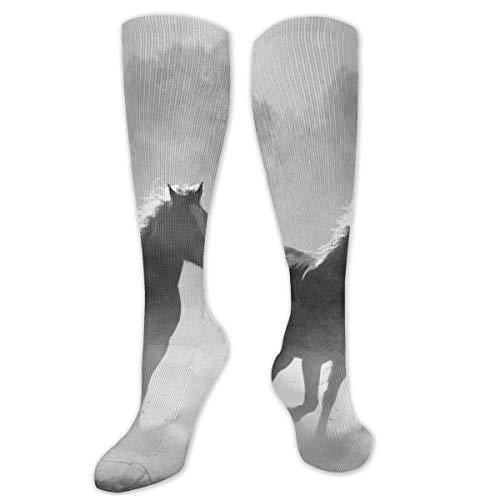 Ruïne koele woestijn donker paard mannen vrouwen atletische voetbal jurk sokken kunst bemanning sokken