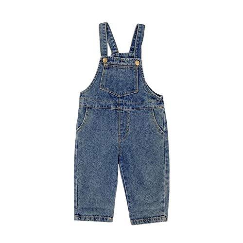 Niños Casual Denim Dungarees Sling Jeans Overol de Longitud Completa Bib (3-8 años)