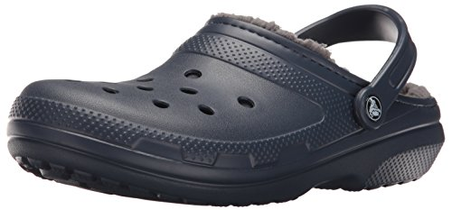 crocs Unisex-Erwachsene Classic Lined Clogs, Blau (Navy/Charcoal 459B), 45/46 EU