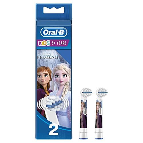 Oral-B Stages Power testine Frozen per spazzolini elettrici per bambini, 2 pezzi (il prodotto può differire dall'immagine)