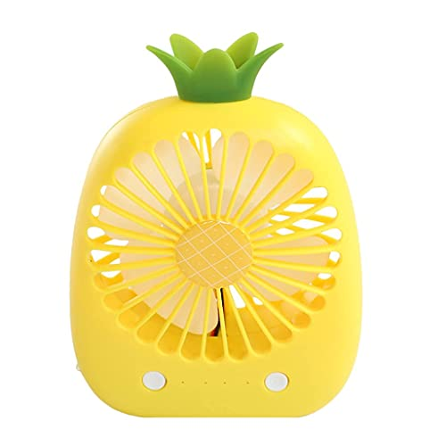 QZH Lindo Ventilador de Mano de piña Mini Ventilador Recargable Cactus Ventilador de Escritorio portátil Dormitorio de Estudiantes Silenciador USB (A)