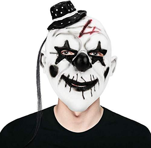 ASEDRF Partei Cosplay Joker-Maske Latex Maske Rave-Maske Karneval-Maskerade-Maske Horror Creepy Latex Clown-Masken Für Erwachsene Maske, Halloween