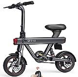 DYU V1 Bicicleta Eléctrica Plegable, 12' Bici Electricas con Pedales,Urbana E-Bike 240W Motor,Batería 36V 10Ah, Velocidad máxima de 25 km/h, 3 Modos de Trabajo|50m Remoto Comienzo|Alarma Inteligente