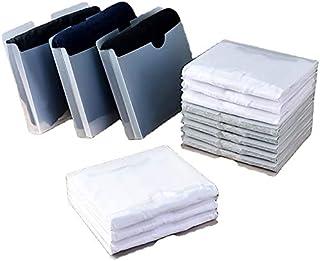 10 pcs Planche à vêtements Pliante translucide, boîte de Rangement pour vêtements, Organisateur de Placard Dossiers à Ling...