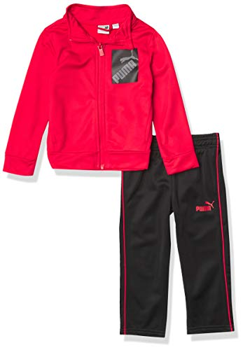 PUMA Boys' Track Jacket & Pant, Red, 4T