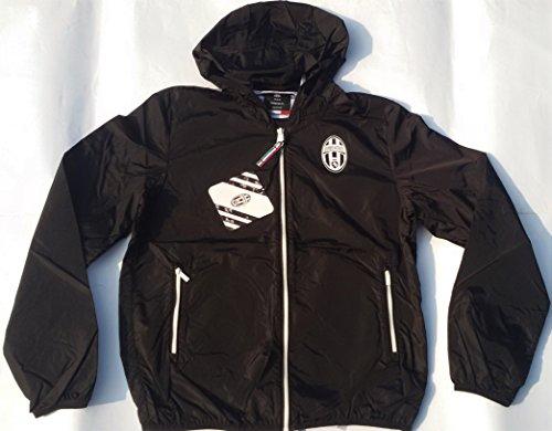 """- Juventus F.C - K-Way. Chaqueta cortavientos de niño oficial del equipo de fútbol """"Juventus de Turín"""", NERO (come da foto), 8 ANNI,cm.:spalle 35,torace 42,lungh.49"""