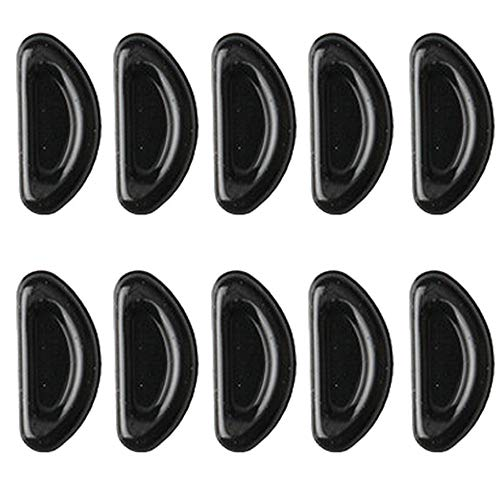 (ティーシーセレクト) TC-select メガネ 鼻パッド シール シリコン 滑り止め 眼鏡 サングラス ズレ防止 (ブラック10個)