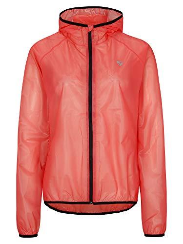 Ziener Damen NEA Regenjacke - Fahrrad,Outdoor,Freizeit - wasserdicht|atmungsaktiv|super leicht, red, 46