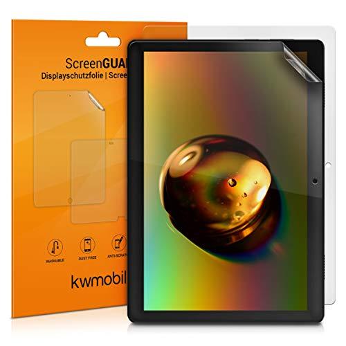 kwmobile 2X Schutzfolie kompatibel mit Lenovo Tab M10 - Folie entspiegelt Full Screen Tablet