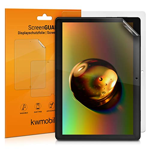 kwmobile 2x Screen Protector Compatible with Lenovo Tab M10 - Clear Anti-Scratch Display Film for Tablet Screen - Set of 2