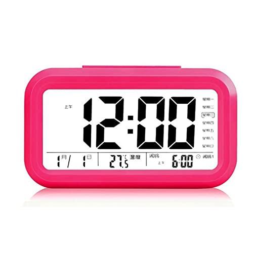 AXTMR Despertador de Voz Recargable, Reloj electrónico silencioso Inteligente de Pantalla Grande de Pantalla Digital LED,Red