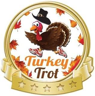 Crown Awards Turkey Trot Banner Pin, Gold Thanksgiving Pins Prime
