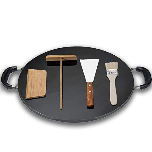 Accessori Per Crepe Crepe Crepe, Strumento Pan Drezzo Di Pancake Gidle Guddle, Per Una Stufa A Gas Adatto, Fornello A Induzione,With tools,8mm/48cm
