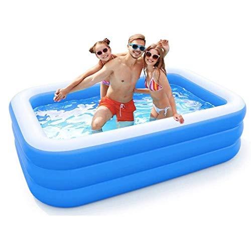 Cama Inflable Pequeña Piscina Inflable para Niños Barril De Baño Resistente Al Desgaste Piscina De Colchón De Aire De Cría De Peces Al Aire Libre para El Hogar (Color : Blue, Size : 262 * 175 * 60cm)