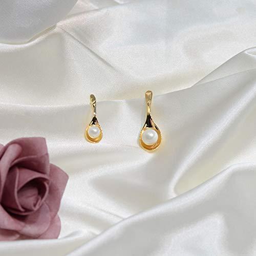 S925 joyería de pendientes de oreja oreja gota para el oído del dangler línea roja neto diversión cuchara perla pendientes asimétricos de moda femenina tendencia exquisitos pendientes de personalidad