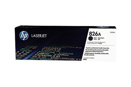 Cartucho Original para HP Color Laserjet Enterprise M 855DN HP 826A, 826ABK, 826ABLACK, no826a, no826abk, no826ab Barniz cf310a–Premium de impresoras Cartucho–Negro–29.000Páginas