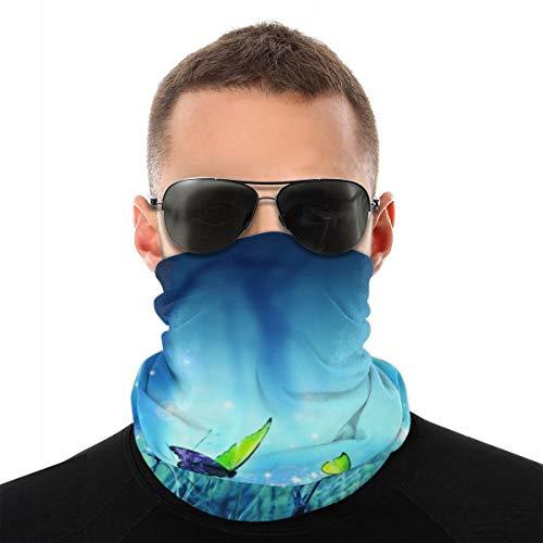 JOJOshop Ademend gezichtsmasker Bandana zon UV bescherming nek Gaiter sjaal Lotus roze licht achtergrond multifunctionele hoofddeksels voor de zomer fietsen vissen en wandelen
