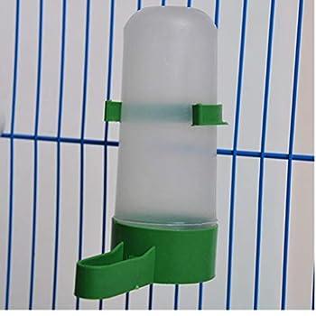 Oiseaux d'eau Buveur Feeder Abreuvoir avec Clip pour Animaux Produits pour Les Oiseaux Distributeur Bouteille Abreuvoirs Parfaits pour Pet Parrot Cage 90ml