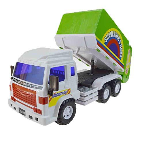 DGJEL Fahrzeuge Kinderspielzeug Große Trägheit Die Müllentsorgung Kunststoff LKW Reinigung Kehrmaschine LKW Modellauto Junge Lustige Geschenke