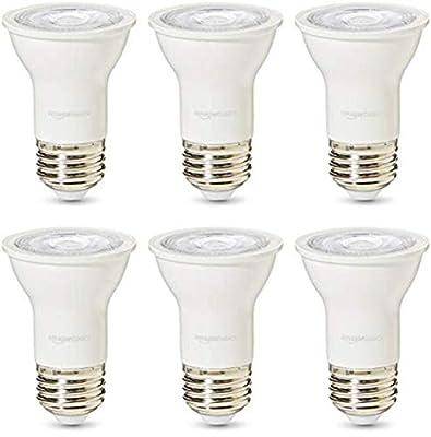 AmazonBasics Commercial Grade 25,000 Hour LED Light Bulb   50-Watt Equivalent, PAR16, Soft White, Dimmable, 6-Pack