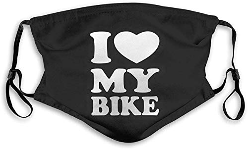 Ik hou van mijn fiets Unisex anti-vervuiling masker stofmasker met filter masker Medium Veelkleurig