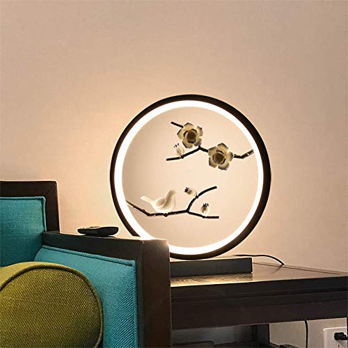 Lámpara de Mesa Lámpara de Noche cálida para Dormitorio/Lámpara de Mesa Decorativa LED de Estudio clásico Creativo para Sala de Estar