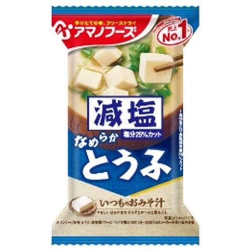 アマノフーズ フリーズドライ 減塩いつものおみそ汁 とうふ 10食×6箱入×(2ケース)