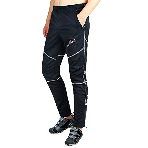 4ucycling Mens Fleeced Windstopper Cycling Pants for Casual Outdoor and Multi Sports...