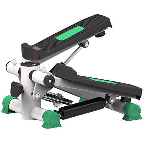 Aerobic Mini Stepper, Swing Stepper, Been Workout, Low Impact Fitness, draagbare, display toont calorieën verbrand, Workout Time Etc,Green