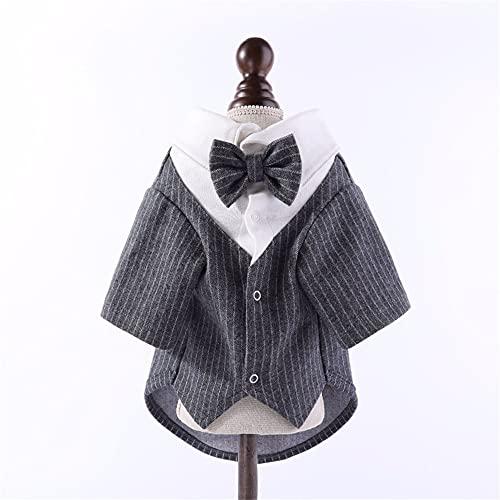 Disfraz Tuxedo para perro, vestido de novia, chihuahua Yorkie, ropa para perros, bichón, pomerania, Schnauzer, ropa para animales domésticos (color negro, X-XL)