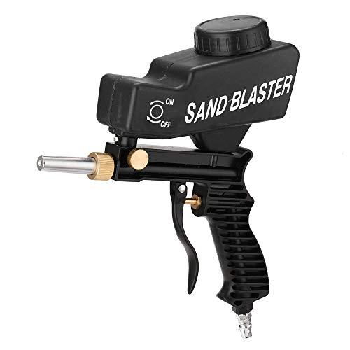 Kecheer Sandstrahlpistole, Tragbare Gravitations-Sandstrahlmaschine Pneumatischer Sandstrahlsatz Rustproof Sandblaster Small Sandblasting Machine