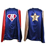 Everfan Personalized Adult Superhero Cape | Superhero Capes For Adults | Satin Costume Cape (38'LX48'W, Navy Blue)