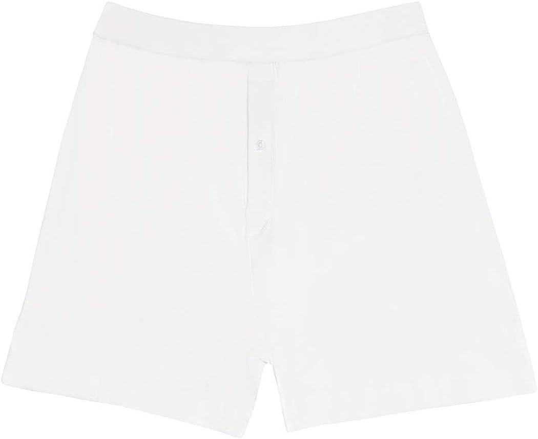 Jack & Jill Boys Knit Boxer Shorts White 3-Pack 100% Cotton