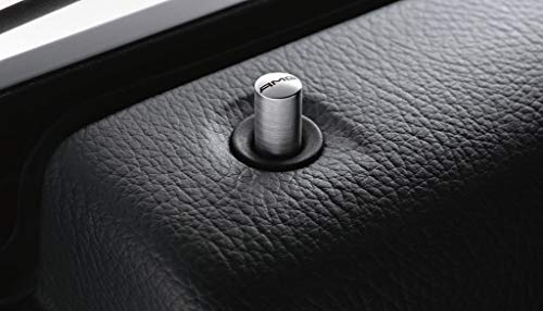 Mercedes Benz AMG Original Acier Inoxydable Porte Épinglette Kit 4 Pièces Argent C 253 Glc Coupé Année de Construction: ~10/2016