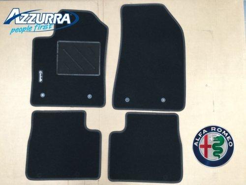 71807921–Alfombras de Moqueta delanteras + traseras originales FCA - Juego de Alfombrillas originales para el coche