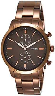 Fossil Townsman 44mm cronógrafo Reloj de Acero Inoxidable