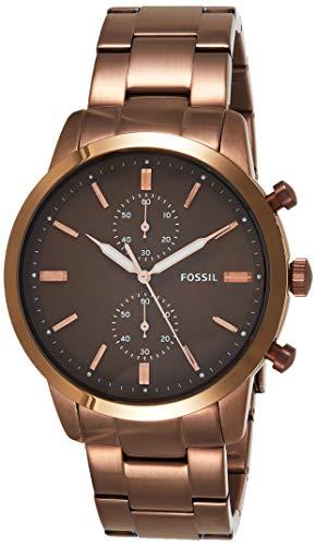 Fossil Herren Quarz Uhr mit Edelstahl Armband FS5347