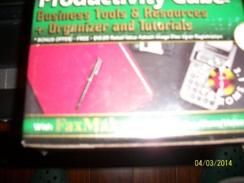 PRODUCTIVITY CUBE BUSINESS TOOLS & RESOURCES + ORGANIZER AND TUTORIALS with FAX MAKER by Aztech