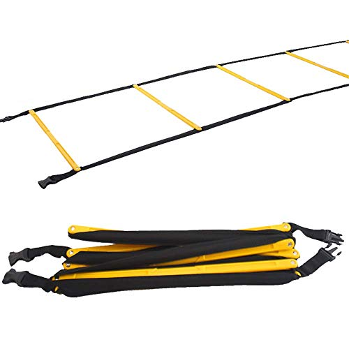 ZMXZMQ Pro Atlete Grade Speed Agility Ladder, Met Draagtas, Speed Training Oefening Praktijk, Voor Voetbal, Voetbal & Alle Sport