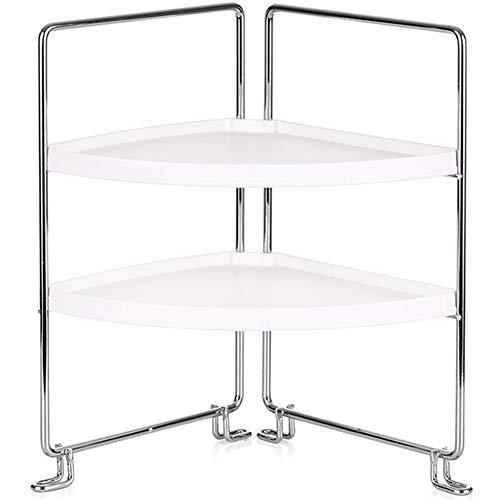 2-delat hörn fristående förvaringsställ stapelbar organiseringshylla för kök badrum bänkskåp förvaring hylla stativ