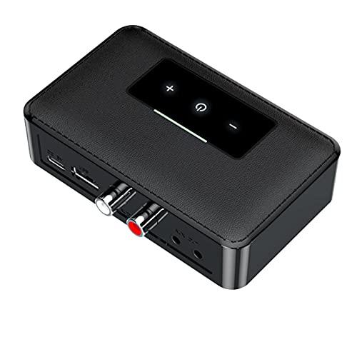 Mogzank BotóN de Contacto Receptor 5.0 Transmisor HiFi Audio EstéReo 3.5MM RCA U Disco NFC Adaptador InaláMbrico para TV Car Kit