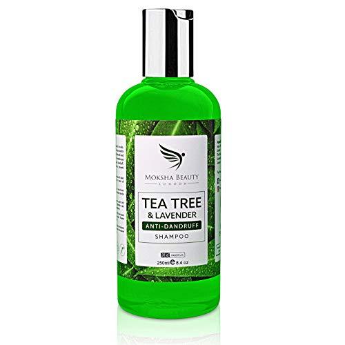 Shampoo Antiforfora Uomo e Donna Arricchito con Tea Tree Oil Puro 100% - Olio Essenziale dell Albero del Tè Olio di Lavanda - Shampoo Tea Tree- Shampoo secchi- Doccia Shampoo Uomo-Shampoo Anticaduta